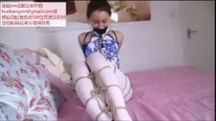 逍遥-白丝袜美女捆绑挣扎超诱惑 Chinese Bondage