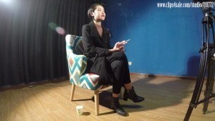 Popular Chinese Model DD Smoking Interview 4K