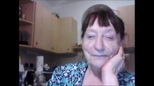 Benilde real italian granny shows nipples
