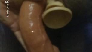 Cumming on dp anal with dildos